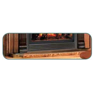 "Napoleon HPLXTK 56"" Hearth Pad in X for Gas Burning Fireplaces: Black Tile"