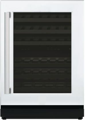 """Thermador T24UW800 24"""" Under-Counter Dual Zone Wine Cooler with 41 Bottle Capacity, Glass Door, SoftClose Door Hinges, LED Theatre Lighting, and UV Resistant Glass Door: Panel Ready"""