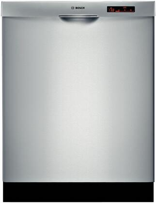 "Bosch SHE68R55UC 24"" 800 Series Built-In Semi-Integrated Dishwasher"