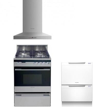 Fisher Paykel FP3PC24DFWMSSKIT3KIT4 Kitchen Appliance Packag
