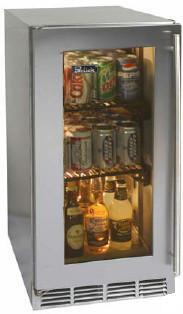 Perlick HP15RS3LDNU  Freestanding Counter Depth Compact Refrigerator with 3 cu. ft. Capacity, 2 Wire Shelves
