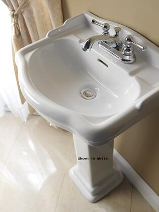 Barclay 387 Stanford Collection Vitreous China 460 Pedestal Lavatory with Overflow: