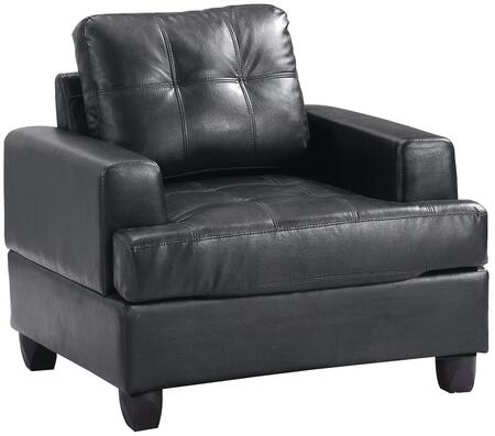 Glory Furniture G583AC Bycast Leather Armchair in Black
