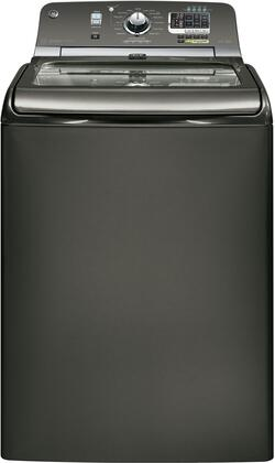 "GE GTWS8455DMC 28"" 4.8 cu. ft. Top Load Washer, in Metallic Carbon"