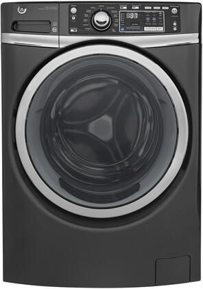 "GE GFW480Sx 28"" Front Load Washer with 4.9 cu. ft. Capacity, Steam Assist, Sanitize Cycle, Allergen Cycle, Time Saver and LED Light, in"