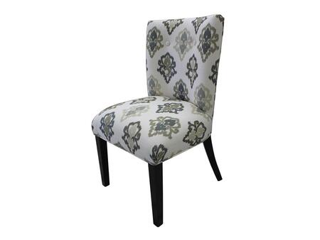 Stein World 12145 Armless Fabric Wood Frame Accent Chair