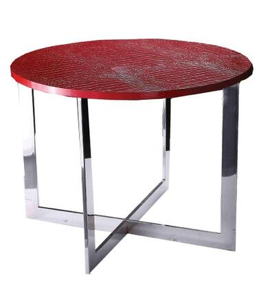 VIG Furniture VGUNAA83560 A & X Flair Series Modern Metal Round None Drawers End Table