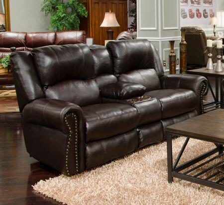 Catnapper 64229128309308309 Messina Series Leather Reclining with Metal Frame Loveseat