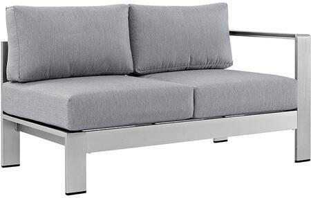 Modway EEI2262SLVGRY  Patio Love Seat