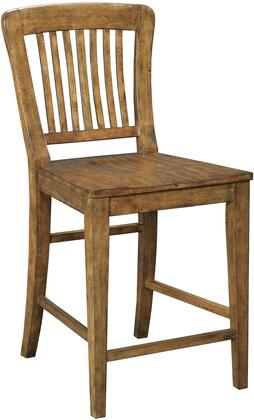 "Broyhill New Vintage 480X-591 25"" Seat Height School House Gathering Stool with Wood Seat, Ladder Back Design and Tapered Legs in"
