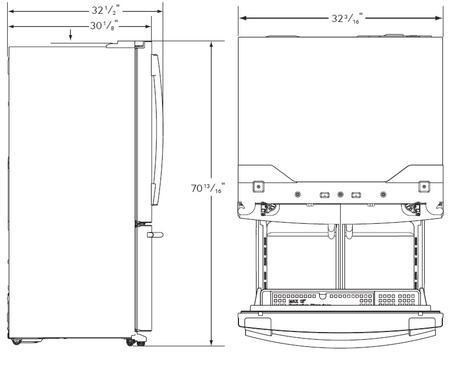 French Door Refrigerator Dimensions
