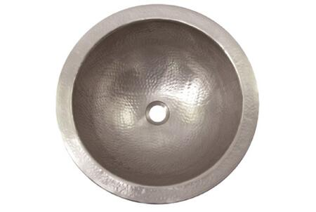 "Houzer HW-AUGXRF Hammerwerks 17"" Undermount Large Round Single Bowl (Flat Lip) Bathroom Sink:"