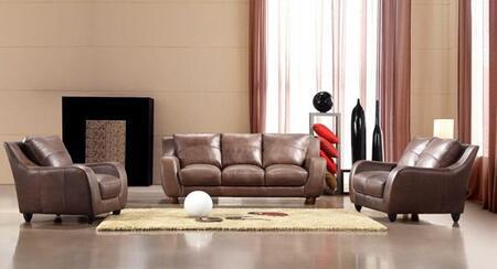 VIG Furniture VGCA2540BROWN Modern Leather Living Room Set