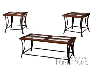 """Acme Furniture 17182 48"""" Transitional Living Room Table Set"""
