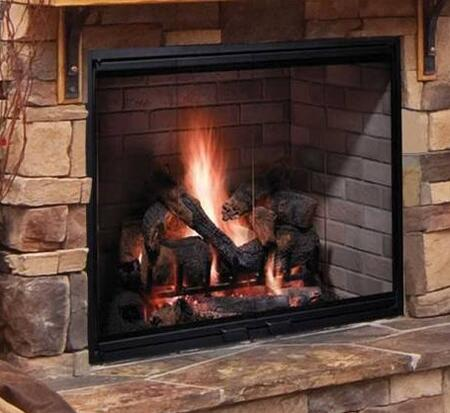 """Majestic SB6 Biltmore 36"""" Radiant Wood Burning Fireplace with 1,026 sq. in. Viewing Area, Dual Gas Knockouts, and Full Refractory Firebox"""