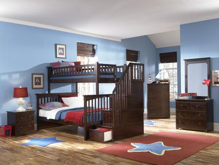 Atlantic Furniture YBBCOLUMBIASTTWINFULLWH Columbia Series  Full Size Bed