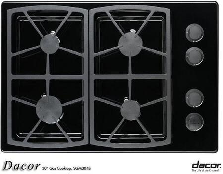 Dacor SGM304BH Classic Series Natural Gas Sealed Burner Style Cooktop, in Black