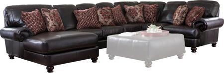 "Jackson Furniture Southport Collection 4467-75-30-59-42- 155"" 4-Piece Sectional with Left Arm Facing Chaise, Armless Sofa, Corner and Right Arm Facing Loveseat in"
