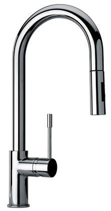 Jewel Faucets 25592XX Single Hole Kitchen Faucet with Goose Neck Spout
