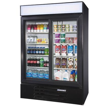 "Beverage-Air LV45-1 LumaVue 52"" Two Section Refrigerated Glass Door Merchandiser with LED Lighting, 47 cu.ft. Capacity, [Color] Exterior and Bottom Mounted Compressor"