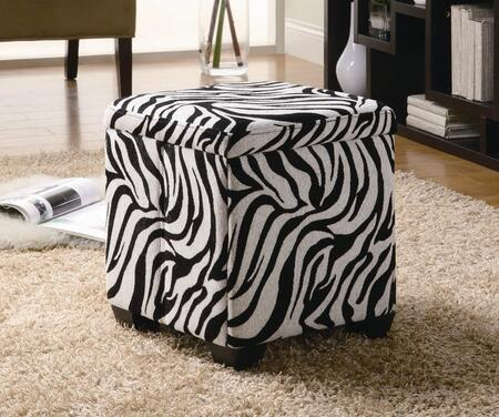 Coaster 501087 Oak Valley Series Traditional Fabric Ottoman