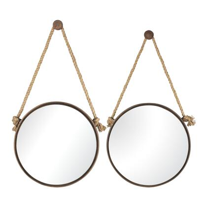 Sterling 538502 Mirrors on Rope Series Round Both Wall Mirror