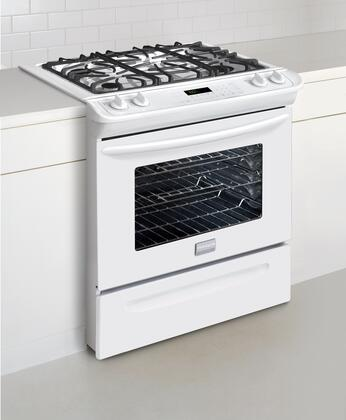 "Frigidaire FGGS3045KW 30"" Gallery Series Slide-in Gas Range with Sealed Burner Cooktop Storage 4.2 cu. ft. Primary Oven Capacity"