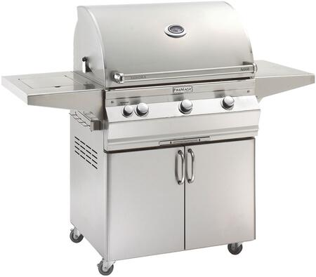 "FireMagic A660S5LAX62 Aurora 63"" Cart with 30"" Grill, E-Burners, One Left Side Infrared Burner, Side Shelf, Side Burner, Analog Thermometer, and Up to 75000 BTUs Heat Output, in Stainless Steel"