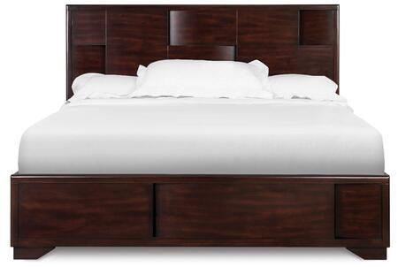 Magnussen B194350K2 Aurora Series  Queen Size Island Bed with Storage Bed