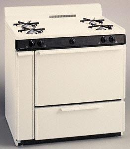 "Premier SLK100TP 36"" Gas Freestanding Range with Open Burner Cooktop, 3.9 cu. ft. Primary Oven Capacity, Broiler in Biscuit"