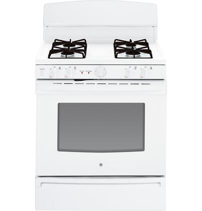 """GE JGB450XEFXX 30"""" Freestanding Gas Range with 4 Sealed Burners, 4.8 cu. ft. Capacity, Self-Clean Option, ADA Compliant, Storage Drawer and LP Gas Conversion Kit Included: XXX"""