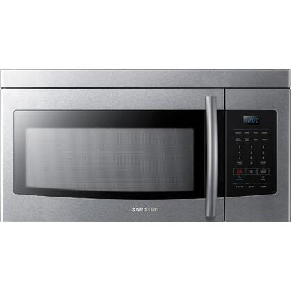 Samsung ME16K3000A Over the Range Microwave with 1.6 cu. ft. Capacity, 2-Speed and 300 CFM Ventilation, Eco Mode and Auto Menu in
