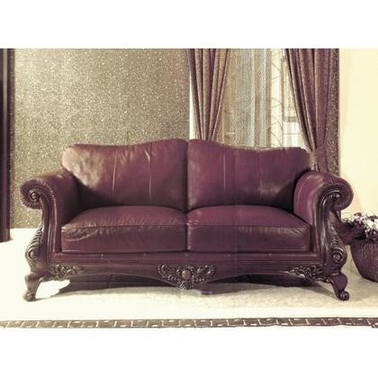 Yuan Tai CH1086L Charlie Series Leather Sofa with Wood Frame Loveseat