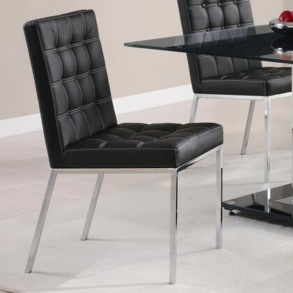 Coaster 102312 Rolien Series Contemporary Vinyl Metal Frame Dining Room Chair