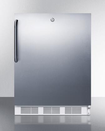 """AccuCold CT66LCSST 24"""" Built In Undercounter Refrigerator Freezer with Dual Evaporator Cooling, Cycle Front, Door Lock, Adjustable Thermostat, and 100% CFC Free, in Stainless Steel"""