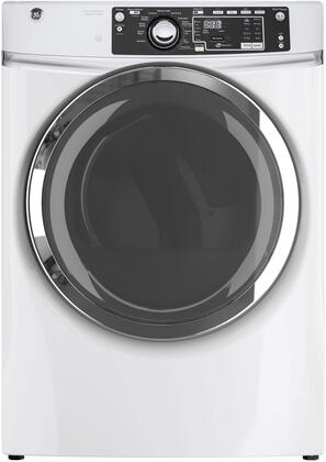"GE GFD48ES 28"" Front Load Electric Dryer with 8.3 cu. ft. Capacity, Steam Refresh, Detangle Assist, Stainless Steel Drum, HE Sensor Dry and Sanitize Cycle, in"
