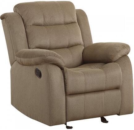 Coaster 601886 Rodman Series Velvet Armchair with Wood Frame in Tan