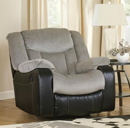 Milo Italia Nicole MI-5950DTMP Rocker Recliner with Plush Padded Arms, Divided Back and Chaise Pad Seat Cushion in