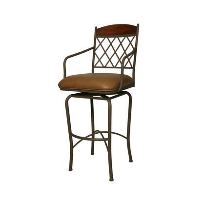 Pastel Furniture QLNR2192 Napa Ridge 30 in. Bar Height Swivel Barstool