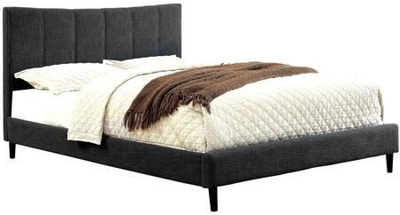 Furniture of America CM7678GYEKBED Ennis Series  Eastern King Size Bed