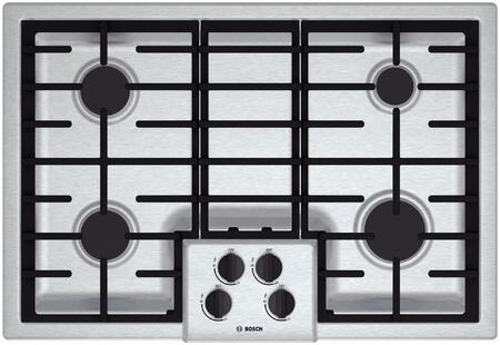"""Bosch NGM5055UC 31"""" 500 Series Gas Sealed Burner Style Cooktop, in Stainless Steel"""