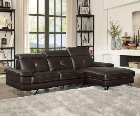 Acme Furniture 52045 Aeryn Series Sofa And Chaise Bycast Leather