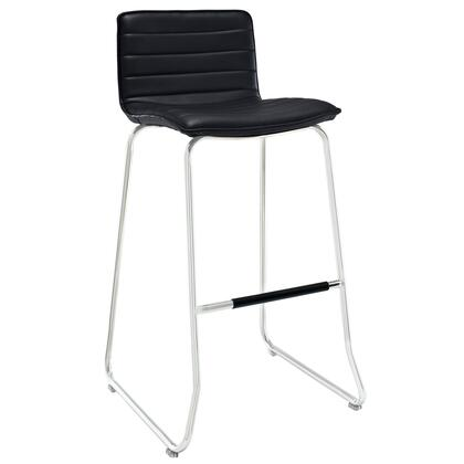 Modway EEI-1030 Indoor Dive Bar Stool with Modern Design, Easy Wipe Clean Surface, Chrome Plated Steel Piston, Vinyl Seat Pad, and Fully Assembled
