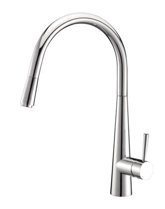 Ruvati RVF1221 Pullout Spray Kitchen Faucet in Polished Chrome Finish