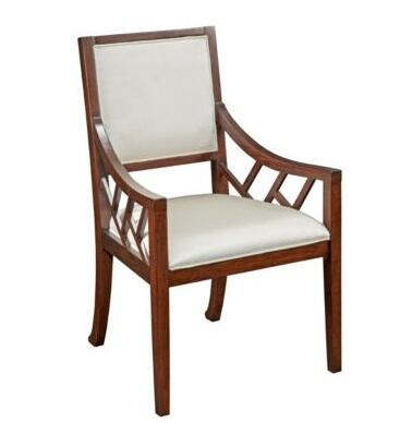 Broyhill 8053580 Antiquity Series Contemporary Fabric Wood Frame Dining Room Chair
