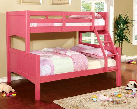 Furniture of America CMBK608FPKBED Prismo II Series  Twin over Full Size Bunk Bed