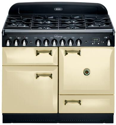 AGA ALEG44DFCDCRM Legacy Series Dual Fuel Freestanding Range with Sealed Burner Cooktop, 2.4 cu. ft. Primary Oven Capacity, Storage in Cream