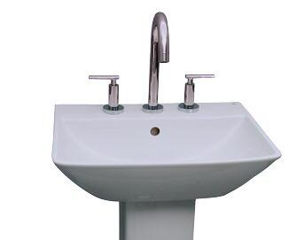 "Barclay B/3-77WH Summit 600 Basin Only, with Pre-drilled Faucet Holes, Overflow, 5.675"" Basin Depth, and Vitreous China Construction, in White"