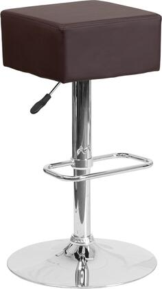 Flash Furniture CH820584BRNGG Residential Vinyl Upholstered Bar Stool