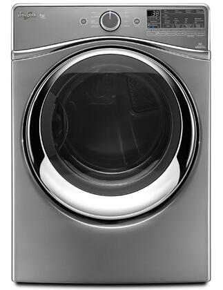 "Whirlpool WGD97HEDx Duet 27"" 7.4 cu. ft. Steam Dryer with SilentSteel Dryer Drum, Tap Touch Controls with Memory, Quad Baffles, Steam Refresh Cycle and Advanced Moisture Sensing System in"